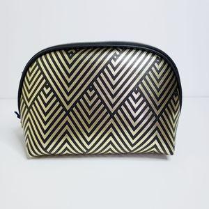 ⭐3/$20 Black and Gold Striped Makeup Bag